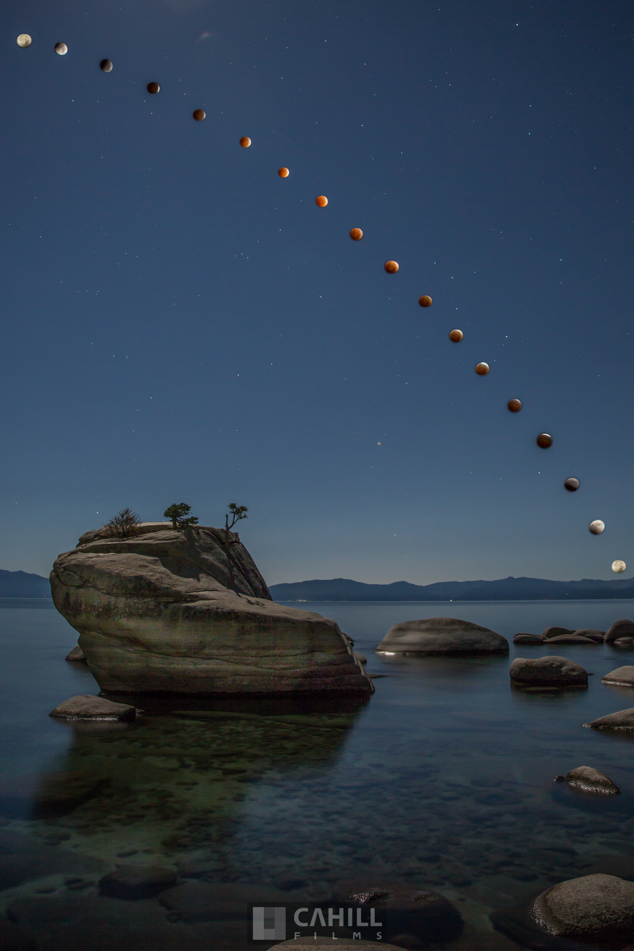 Blood Moon Lake Tahoe