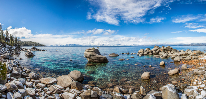 Bonsai Rock, Lake Tahoe, snow