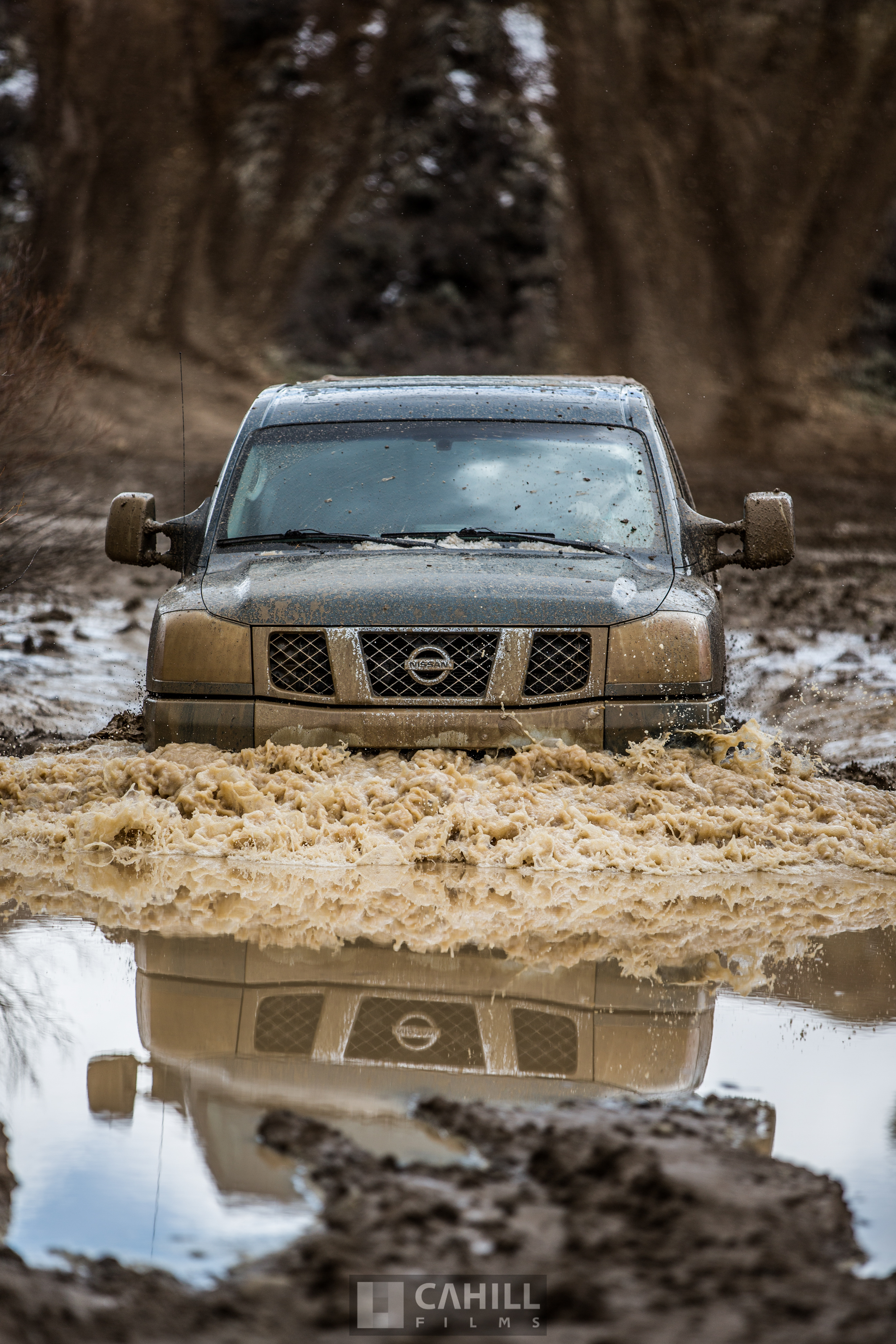 Nissian Titan mudding
