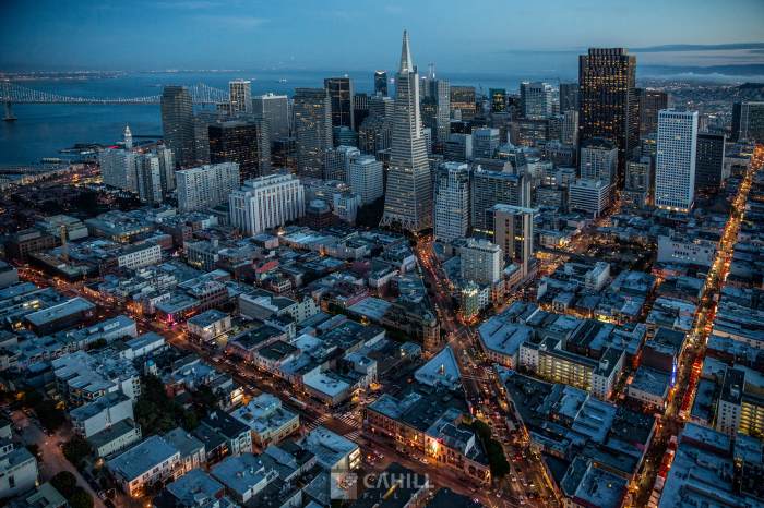 San Francisco From Above Aerial