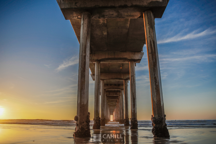 San Diego, Pier, Sunset