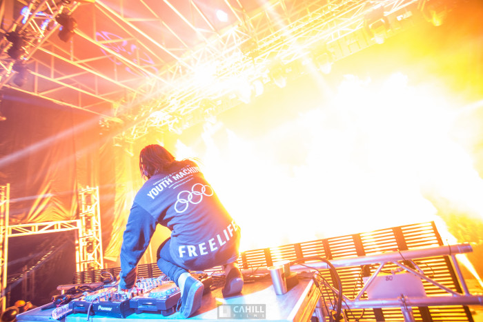 Skrillex at Snowglobe from on stage